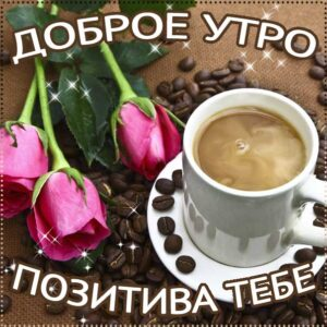 Доброе утро, позитивного утра, с добрым утром открытки, утро розы кофе, чудесного тебе утра