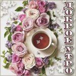 Доброе утро чай розы позитив