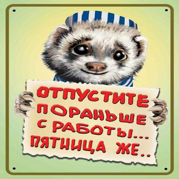 Прикольные открытки про Пятницу